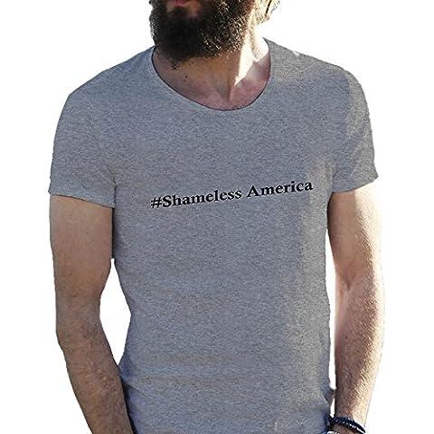 #Shameless America T-shirt maglietta per uomo in grandi dimensioni