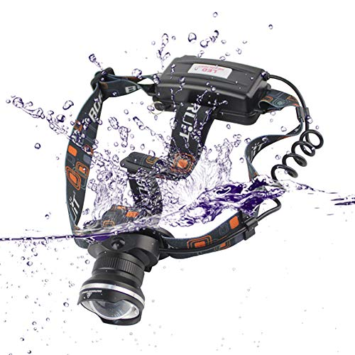 HUANGLP Lampe Frontale,Zoom télescopique Flash à la lumière Lampe avec IPX5 étanche et Recharge USB pour la pêche, Le Camping,Pêche, Chasse,Cyclisme, Activités de Plein Air, Lampe de Poche, Phare