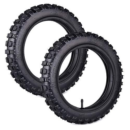 Wingsmoto pour Paire de pneus de Pit Bike CRF50 avec Chambre à air 2.50-10 XR50 Pneus CRF 50 Set TR13 Tige Droite