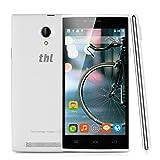 "THL T6C - Smartphone Movil Libre Android (5.0"" Pantalla, 3G, Dual Sim, Quad Core, 8Gb Rom 1Gb Ram, Pantalla 854x480p, 8Mp, GPS WIFI Bluetooth, Multi-Idioma), Blanco"