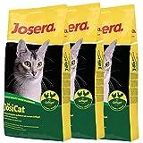 Josera Lot de 3 sacs de croquettes à la volaille de 10 kg JosiCat