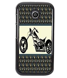 Fuson 2D Printed Bike Designer back case cover for Motorola Moto E - D4385