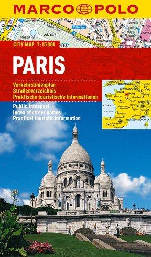 MARCO POLO Cityplan Paris 1:15 000: Stadsplattegrond  1:15 000 (MARCO POLO Citypläne)