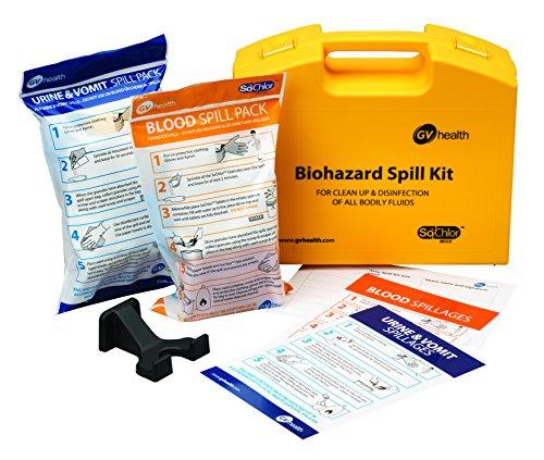 GV Health Aufnahmeset für Körperflüssigkeiten und biogefährdende Flüssigkeiten, enthält Pack für Blut und Urin/Erbrochenes