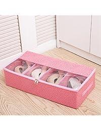 Bolsas de zapatos, Chickwin 10 Pcs accesorios de viaje con la cremallera para los hombres y de las mujeres Cordón a prueba de polvo portátil (Beige, 10 paquete de gran tamaño)