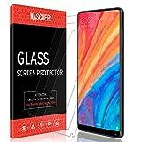 MASCHERI Protection écran pour Xiaomi Mi Mix 2s / Mi Mix 2, [3 Pièces] Verre Trempé [Garantie de Remplacement à Durée de Vie] Screen Protector Film -Transparent