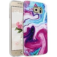 Handyhülle für Samsung Galaxy S6, Asnlove Ultra Dünn TPU Silikon Hülle Case Cover Marmor Motiv mit IMD Schale Backcover Tasche Schutzhülle für Samsung Galaxy S6 G920F