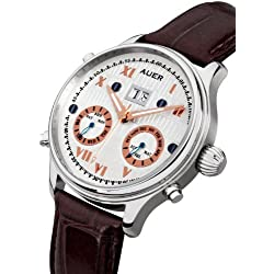 AUER Classic Collection BA-513-SBrL Automatic Mens Watch Classic & Simple