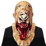 Supmaker Supermaker Halloween Horror Masken Scary Latex Zombie Maske Schmelzen Gesicht Hals Teufel Party Kostüme, Erwachsene Latex Kostüm