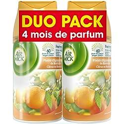 Air Wick Desodorisant Pack de Recharge pour Diffuseur FreshMatic Plaisir d'Agrumes et Zeste de Mandarine - Lot de 2
