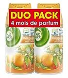Air Wick Desodorisant Pack de 2  Recharge pour Diffuseur FreshMatic Plaisir d'Agrumes et Zeste de Mandarine...