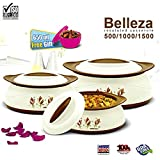 #9: BMS GoodDay Belleza Insulated Hot Pot Casserole Gift Set, 3 Pcs ,With FREE 650ML Bowl