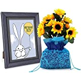 [Sponsored]TiedRibbons® Photo Frame With Artificial Sunflower Sack | Birthday Gift For Boyfriend | Birthday Items For Decoration | Birthday Unique Gifts | Birthday Unique Gifts For Boys