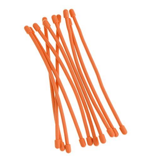 10 Pcs Wiederverwendbar Kabelbinder set (3inch,6inch,12inch)Gummi Gang Krawatten Biegsame Wire Ties,Cable Manager & Schnur-Wächter für Reisen,Elektronik,Tech-Gadgets,TV, Computer & Rucksack - Orange, 7.87 Zoll