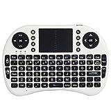 seguryy Mini i8Wireless–Mini Tastatur Französische ergonomisch, kabellos, mit Touchpad–Für Smart TV, Mini PC, HTPC, Konsole, Computer (weiß)