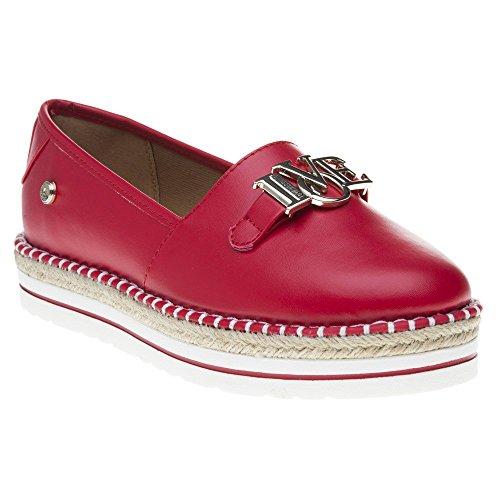 MOSCHINO Chaussures Spécial Piscine et Plage Pour Femme Noir Noir/Rouge - Noir - Noir/Rouge, 35 EU