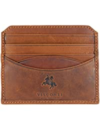 Visconti Quality Leather Slimline Compact Credit Card Holder Wallet - Gift Boxed