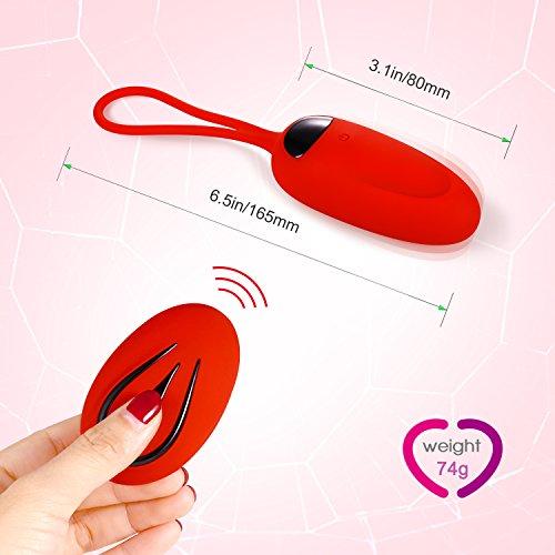 Louviva Masajeador,  12 Modos de Frecuencia,  Silicona Suave,  Impermeable (Rojo) ¡