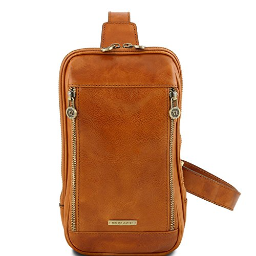 Tuscany Leather Martin - Sac bandoulière en cuir - TL141536 (Marron foncé) Miel