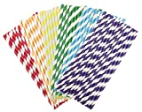 from Generic 150 Pack Paper Drinking Straws Rainbow and Candy Series for Everyday,Party,Wedding,Celebration. (Rainbow)