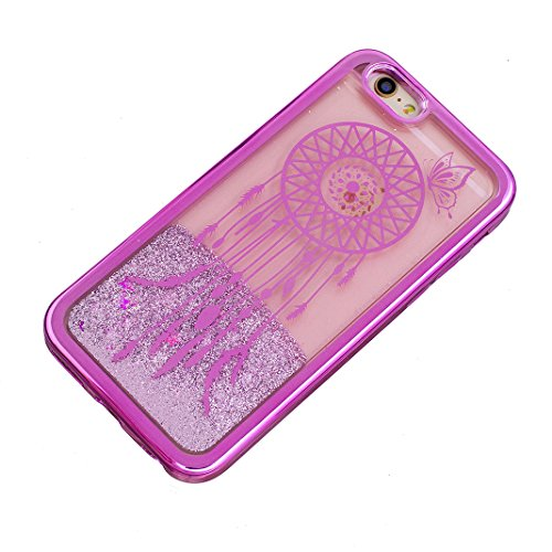 iPhone 5/5S/SE Hülle OuDu Glitzern Funkeln Hülle TPU Silicone Etui für iPhone 5/5S/SE Bling Glitter Case Soft Lightweight Bumper Sparkle Style Cover Flexible Schlanke Schale Glatte Leichte Tasche Ultr Rote Glockenspiele