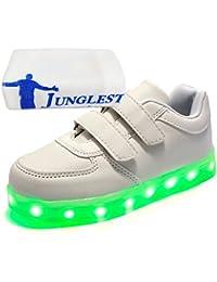 (Present:kleines Handtuch)Silber EU 37, Sneaker Schuhe Damen Outdoorschuhe und JUNGLEST® Laufschuhe aufladen 7 Herren Sportschuhe Wechseln Freizeitschuhe Farbe Kinder USB mo