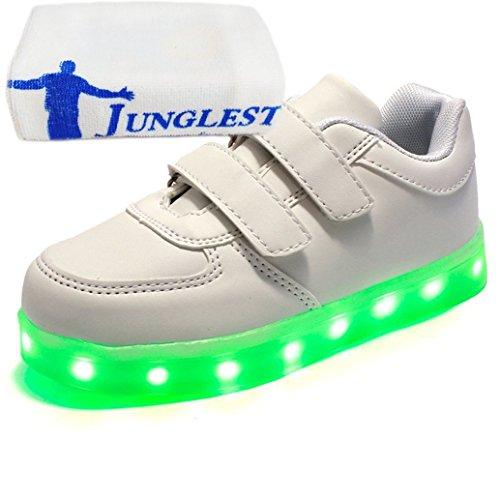 [Present:kleines Handtuch]JUNGLEST® 7 Farben LED Kinder, Jungen, Mädchen führte leuchten Trainer Sneakers Turnschuhe Sportschuh c20