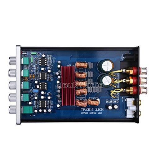 51RxQ64fpGL. SS500  - Nobsound HiFi TPA3116D2 2.1 Channel Digital Audio Power Amplifier Stereo Amp 2×50W+100W Subwoofer Treble Bass…