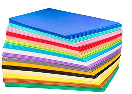 Schwarze Orange Das Kostüm Ist Neue Zurück - My Toy House EVA-Schaum Bastelpapier (80 Stück, 16,5 x 22,9 cm), verschiedene bunte Bastelschwämme für DIY-Projekte, Klassenzimmer, Partys und mehr, Dickes und weiches Papier, 16 Farben je 5 Stück