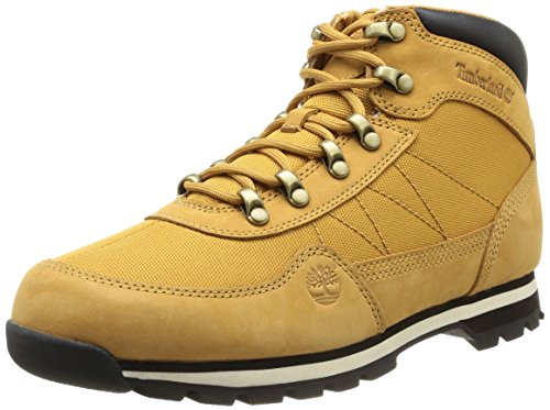 Timberland Euro Hiker Fabric with Leather, Baskets mode homme Jaune (Wheat)