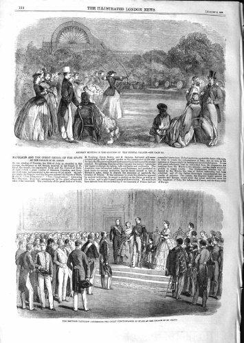 PALAIS 1859 de NUAGE de ST de NAPOLÉON de CRYSTAL PALACE de TIR À L'ARC [Cuisine et Maison] par original old antique victorian print