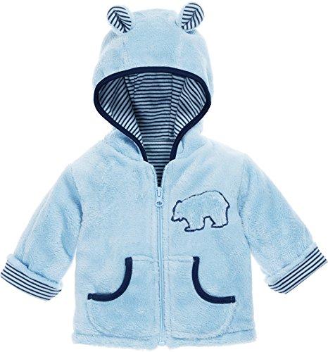 Jungen Gefütterte Jacke (Schnizler Kinder-Jacke aus Fleece, atmungsaktives und hochwertiges Jäckchen mit Reißverschluss, mit Bär-Stickung)