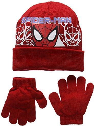 DC Comics Spiderman Headcut Set de Gorro y Guantes