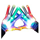 LCLrute Christmas Gloves Blinkende LED-Handschuhe Cool Fun Toys Verpackung Party Bankett Rollenspiel-Handschuhe Blinkende LED Gloves Cool Fun Toys