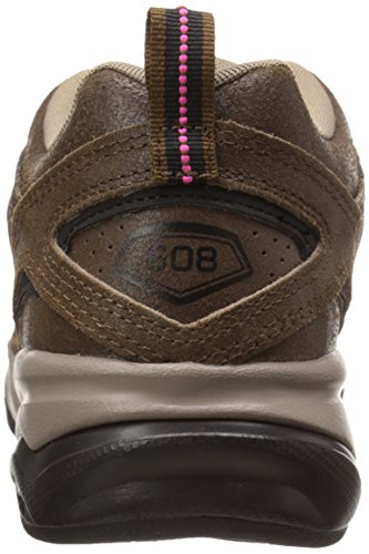 New Balance Women's WX608V4 Training Shoe,White/Navy,10 D US Brown/Tan/Pink Glo