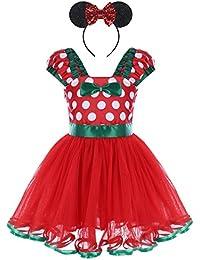 415a387e1 Bebé Niña Vestido de Fiesta Princesa Disfraces Tutú Ballet Lunares Fantasía  Vestido Carnaval Bautizo Cumpleaños Baile para Infantiles Recién…