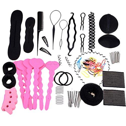 lcnsw-haare-frisuren-setfrisurenhilfe-set-haar-styling-zubehor-pads-haarnadeln-clip-pads-haar-stylin