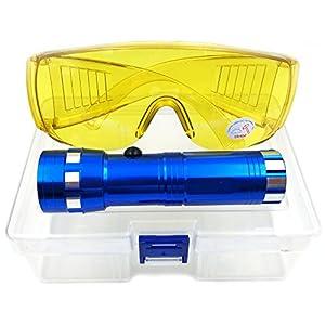 Nikauto Auto acondicionador de Aire Linterna Detector de Fugas Coche AC Prueba de Fugas Linterna Gafas de protección UV