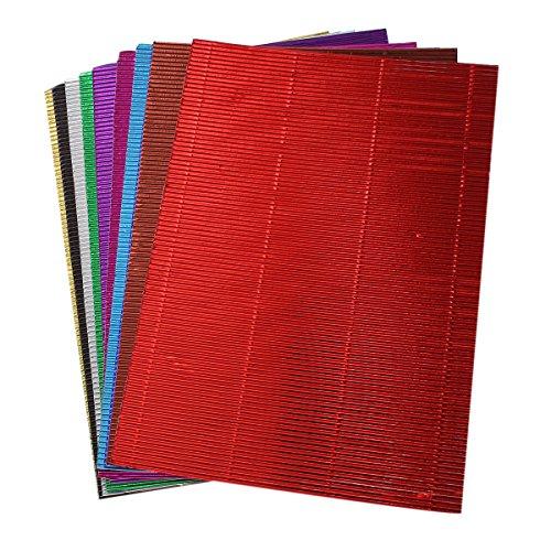 Souarts 10 Blätter/Set Zufällige Farbe Wellpappe Rollenwellpappe Scrapbooking Papier für Heimwerker DIY Craft thumbnail