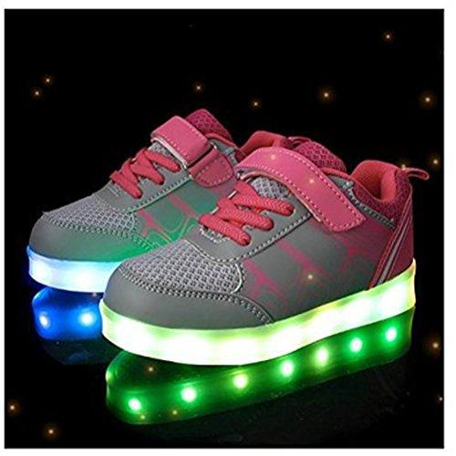 Mdchen Grau kleines Jungen S junglest® Leuchtet Handtuch Sportschuhe Sneakers Bunte Kinder present Athletische Led g6XHqX