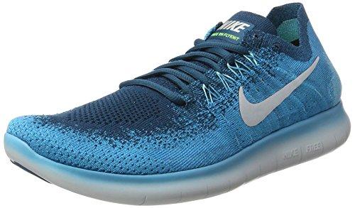 Nike Free Run Flyknit 2017, Scarpe Running Uomo Blu (Blue Lagoon/pure Platinum-legend Blue-pop)