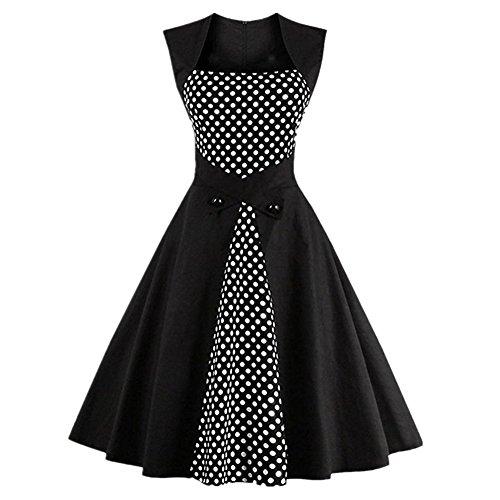 GRACE KALIN Rockabilly, Vintage, Polka Dot, Pin Up, Swing, Cocktail Party, Damenkleid