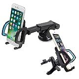 VONKY 2in1 Auto KFZ Halterung Teleskoparm Lüftungsschlitz + Saugnapf Autohalterung Handyhalterung für für iPhone 6S/7/7 Plus/Samsung Galaxy S8 Plus/Huawei P10