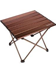 Trekology Portable Table de camping avec dessus de table en aluminium, Hard-topped Table pliante dans un sac de transport pour pique-nique, camping, plage, utile pour salle à manger, couper, cuisiner avec brûleur et facile à nettoyer