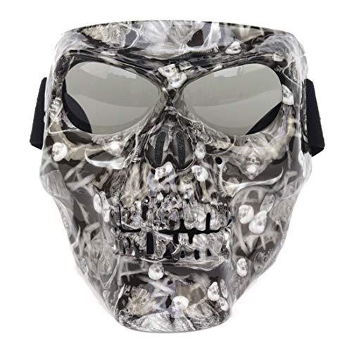 K9CK Taktische Maske, 18cm Schutzmaske im Klassisch-Stil für Paintball Nerf, CS, Nerf Rival -
