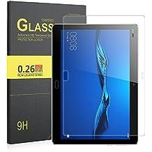 IVSO Pellicola Protettiva Schermo in Vetro Temperato per Huawei MediaPad M3 Lite 10 Tablet (Tempered Glass - 1 Pack)