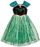 Prinzessin Anna Ice Queen inspiriert Coronation Tag Mädchen Kleid Kostüm