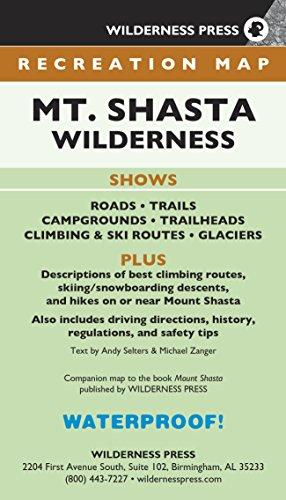 Map Mt. Shasta Wilderness Recreation (Wilderness Recreation Map) por Wilderness Press