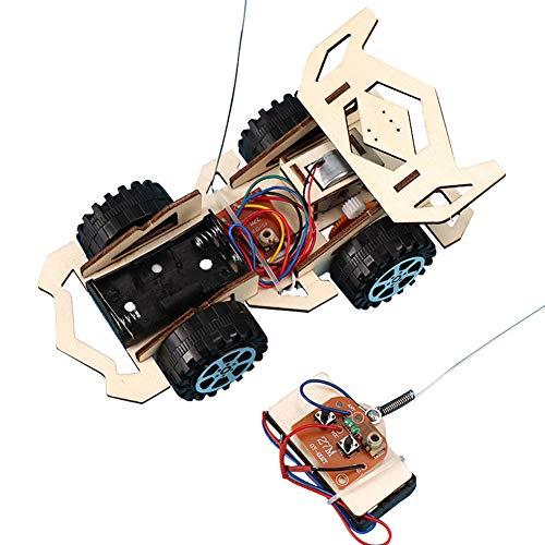 Rabusion Giocattolo Kit di assemblaggio di Veicoli elettrici per Bambini in Legno Kit per la Scienza didattica