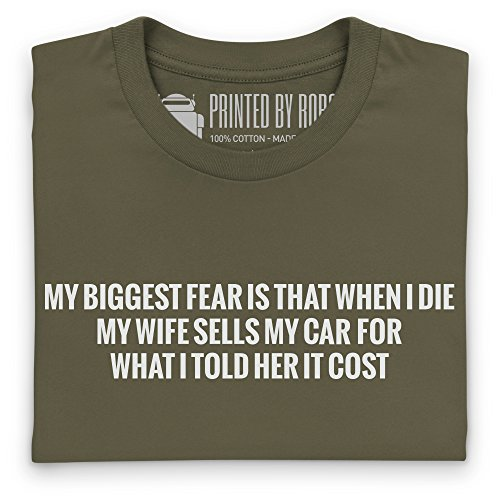 Wife Sells My Car T-Shirt, Herren Olivgrn